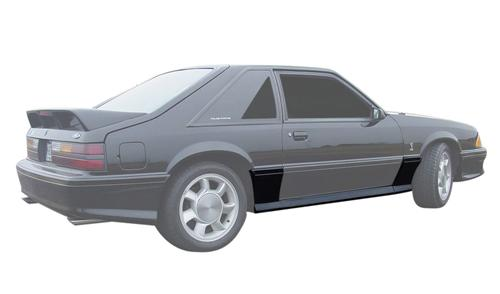 Mustang 93 Cobra Style Side Skirts (87-93) - Picture of Mustang 93 Cobra Style Side Skirts (87-93)