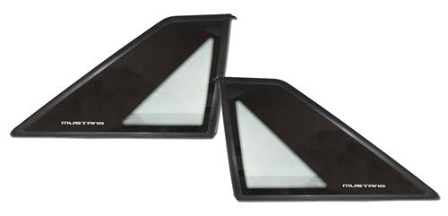 87-93 MUSTANG HATCHBACK QUARTER WINDOW PAIR, FORD ORIGINAL CARLITE