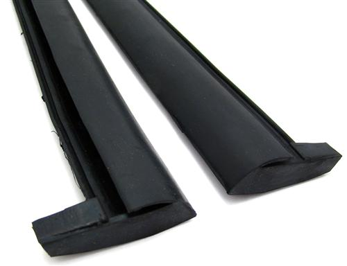 Mustang Convertible Quarter Window Vertical Weatherstrip  Pair (83-93)