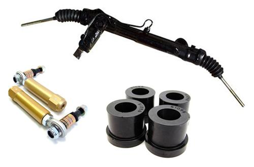 1985-93 Mustang Power Steering Rack Kit, 5.0L Includes Bumpsteer Kit. - Picture of 1985-93 Mustang Power Steering Rack Kit, 5.0L Includes Bumpsteer Kit.