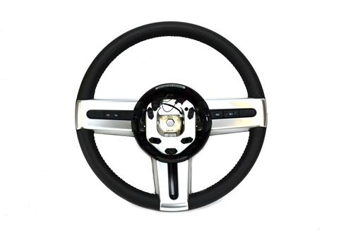 Mustang Steering Wheel, Leather Wrapped with Satin Silver  (05-09) GT