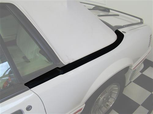 Mustang Upper Well Molding, LH (87-93) Convertible