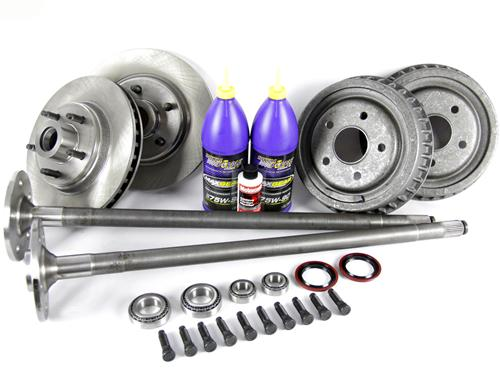87-93 MUSTANG COMPLETE 5-LUG CONVERSION KIT WITH 28 SPLINE REAR AXLES
