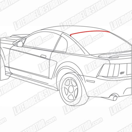 Mustang Rear Window Upper Molding (94-04)