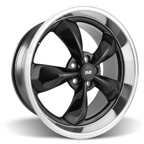 Mustang Bullitt Wheel - 20x10 Black w/ Mirror Lip (05-15)