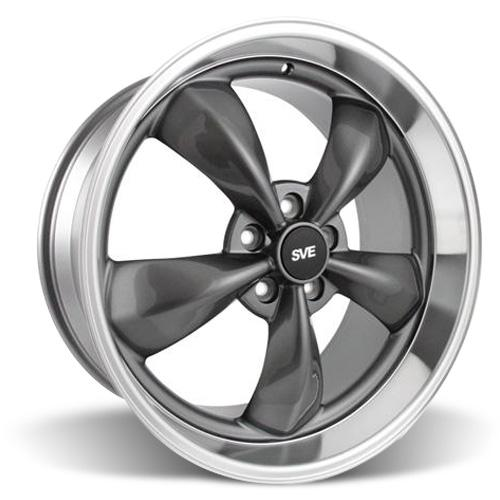 Mustang Bullitt Wheel - 20x10 Anthracite w/ Mirror Lip (05-15)