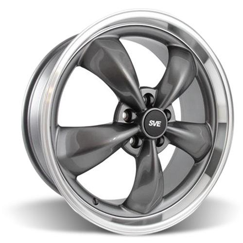 Mustang Bullitt Wheel - 20x8.5 Anthracite w/ Mirror Lip (05-15)
