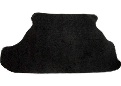 79-93 MUSTANG COUPE TRUNK MAT, BLACK CUTPILE CARPET