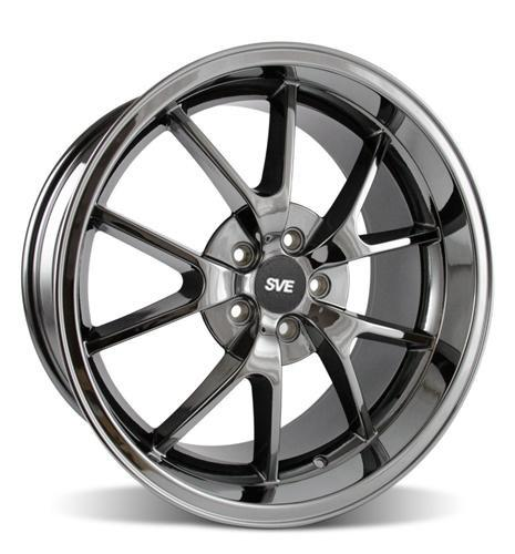 Mustang FR500 Wheel - 20x10 Black Chrome (05-14) - Picture of Mustang FR500 Wheel - 20x10 Black Chrome (05-14)