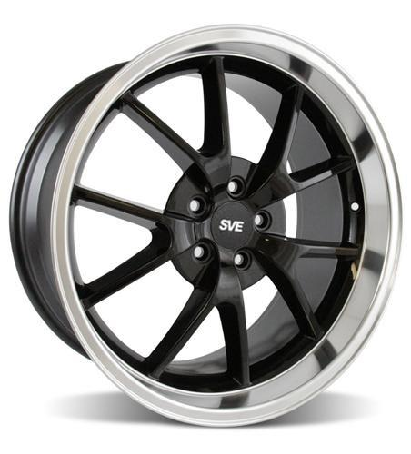 Mustang FR500 Wheel - 20x10 Black w/ Mirror Lip (05-14) - Picture of Mustang FR500 Wheel - 20x10 Black w/ Mirror Lip (05-14)