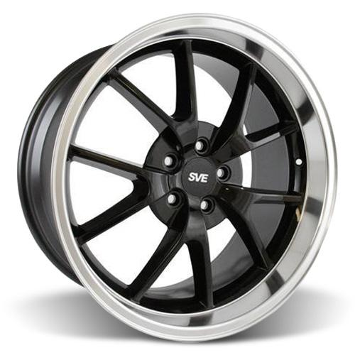 Mustang FR500 Wheel - 20x10 Black w/ Mirror Lip (05-15)