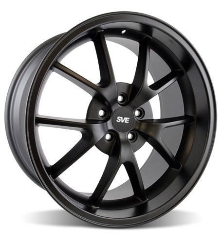 Mustang FR500 Wheel - 20x10 Matte Black (05-14) - Picture of Mustang FR500 Wheel - 20x10 Matte Black (05-14)