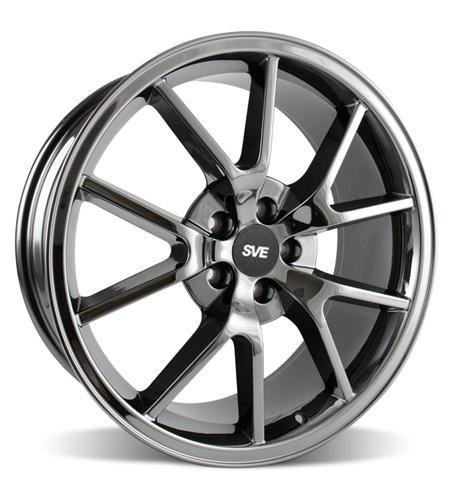 Mustang FR500 Wheel - 20x8.5 Black Chrome (05-14) - Picture of Mustang FR500 Wheel - 20x8.5 Black Chrome (05-14)