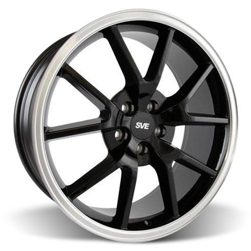Mustang FR500 Wheel - 20x8.5 Black w/ Mirror Lip (05-15)