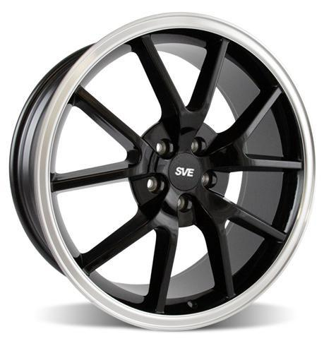 Mustang FR500 Wheel - 20x8.5 Black w/ Mirror Lip (05-14) - Picture of Mustang FR500 Wheel - 20x8.5 Black w/ Mirror Lip (05-14)