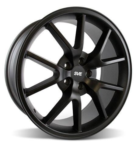 Mustang FR500 Wheel - 20x8.5 Matte Black (05-14) - Picture of Mustang FR500 Wheel - 20x8.5 Matte Black (05-14)