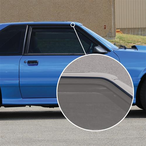 Mustang Roof Rail Molding Kit (87-93) - Mustang Roof Rail Molding Kit (87-93)