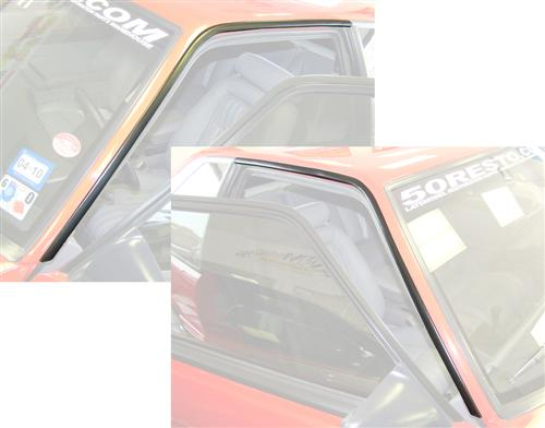 87-93 MUSTANG ROOF RAIL MOLDING KIT