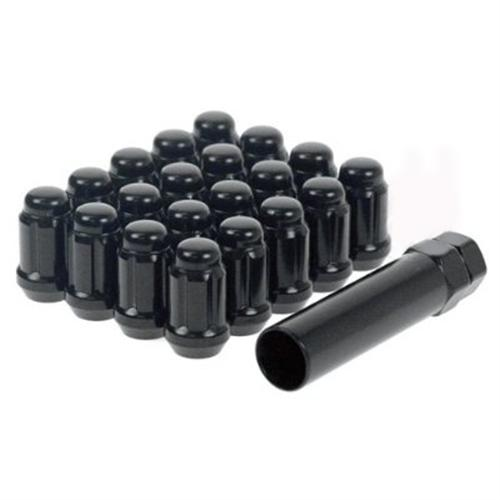 Mustang Spline Drive Lug Nut Kit Black
