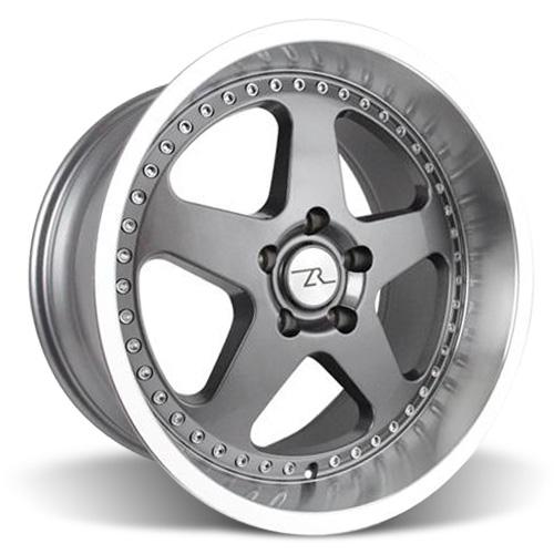 Mustang Saleen SC Wheel - 18x10 Gun Metal w/ Mirror Lip & Rivets (94-04)