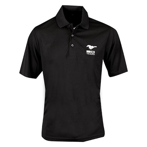 50 Year Black Core Polo  Moisture Wicking,  Antimicrobial, And Uv Protection Performance - Picture of 50 Year Black Core Polo  Moisture Wicking,  Antimicrobial, And Uv Protection Performance