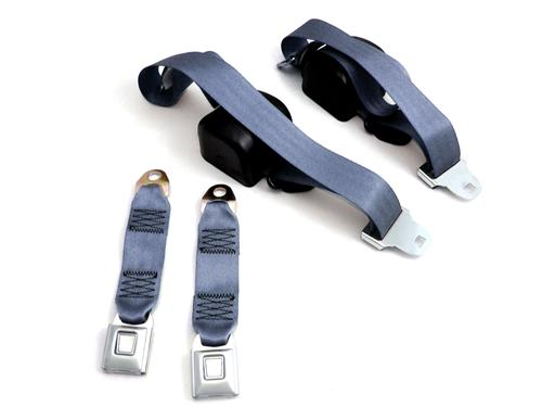 Mustang Front Seatbelt Set Crystal Blue (90-92)
