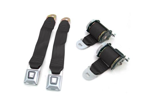 Mustang Rear Seat Belt Set Black (79-89)