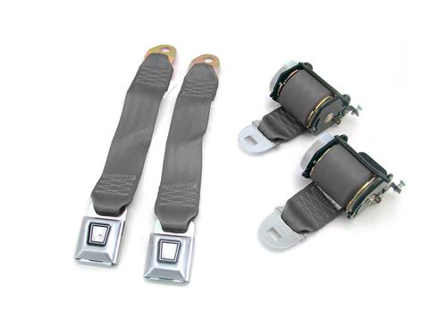 Mustang Rear Seatbelt Set Dark Gray/SVO Gray (84-86)