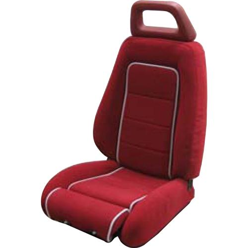 Mustang GT Cloth Sport Seat Upholstery Canyon Red with Gray Welt (85-86) GT Hatchback