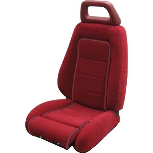 Mustang GT Cloth Seat Upholstery Red with Red Welt (85-86) GT Convertible