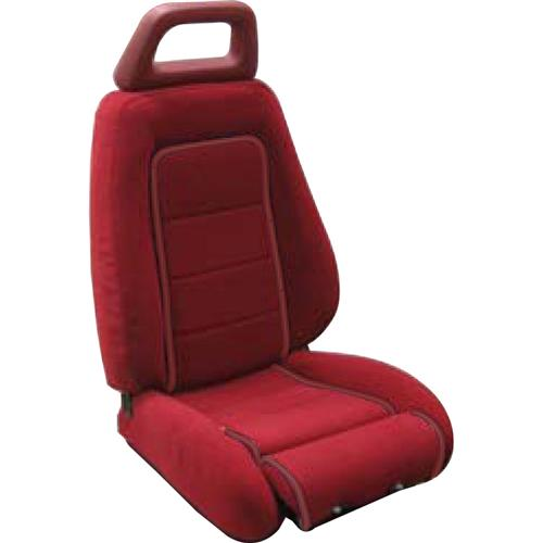 Mustang GT Cloth Sport Seat Upholstery Canyon Red with Red Welt (85-86) GT Hatchback