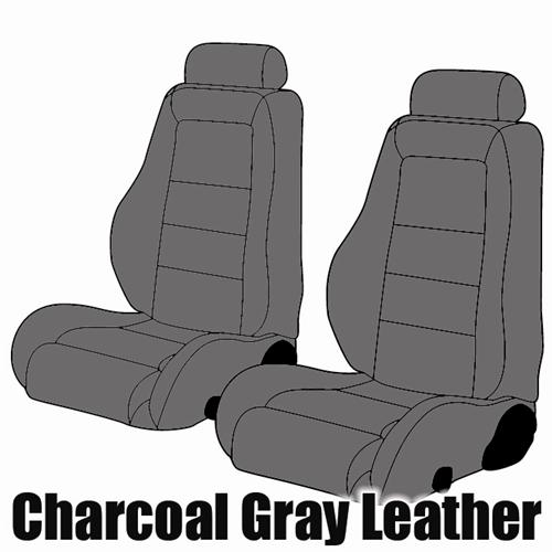 Mustang Leather Seat Upholstery Dark Gray (1984) SVO