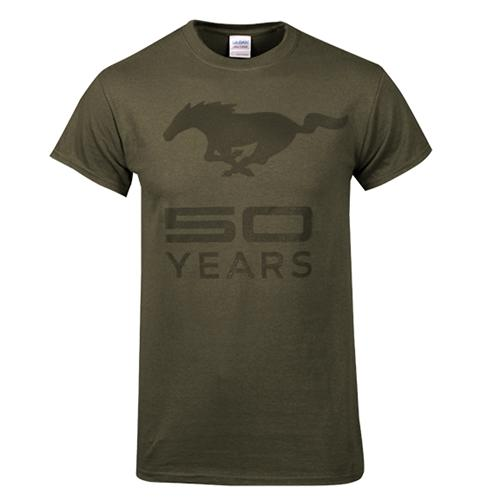 50 Year Olive Green T-Shirt - Picture of 50 Year Olive Green T-Shirt