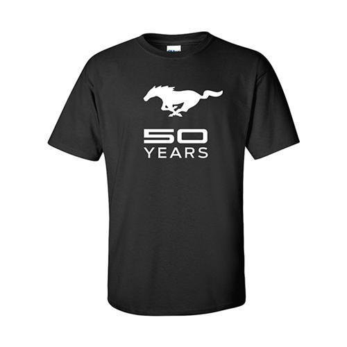 50 Year Black Full Front T-Shir - Picture of 50 Year Black Full Front T-Shirt