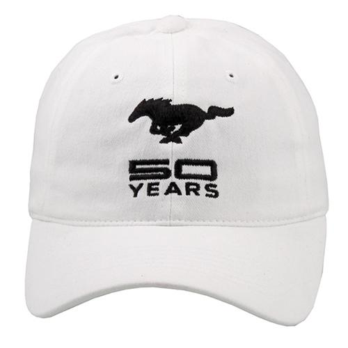 50 Year Solid White Cap - Picture of 50 Year Solid White Cap
