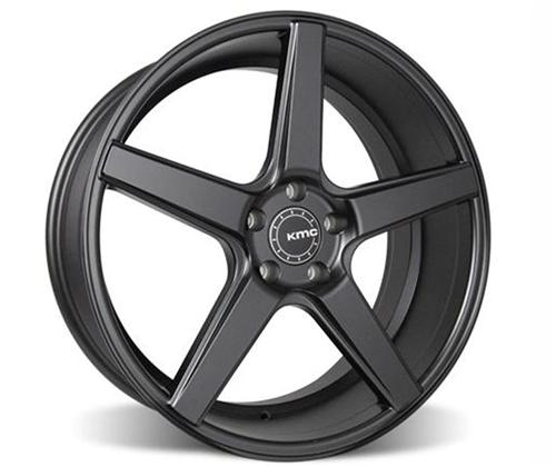 KMC Mustang 685 District Wheel - 20x8.5 Satin Black (05-14) - KMC Mustang 685 District Wheel - 20x8.5 Satin Black (05-14)
