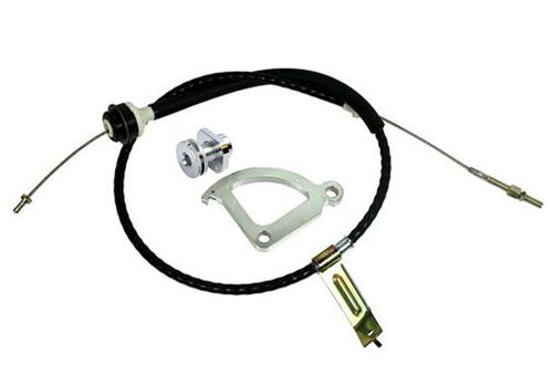 82-95 MUSTANG 5.0L ADJUSTABLE CLUTCH CABLE KIT, ALSO FITS 94-04 MUSTANG 3.8L V6