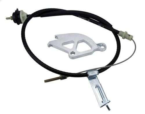 Mustang Adjustable Clutch Cable Kit (82-93) - Picture of Mustang Adjustable Clutch Cable Kit (82-93)