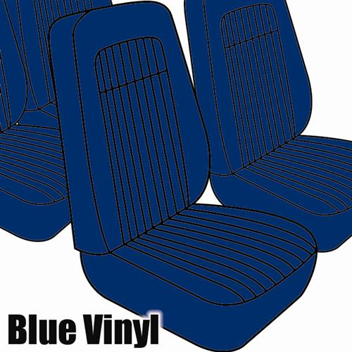 TMI Mustang Seat Upholstery Blue Vinyl (79-80) Coupe High Back