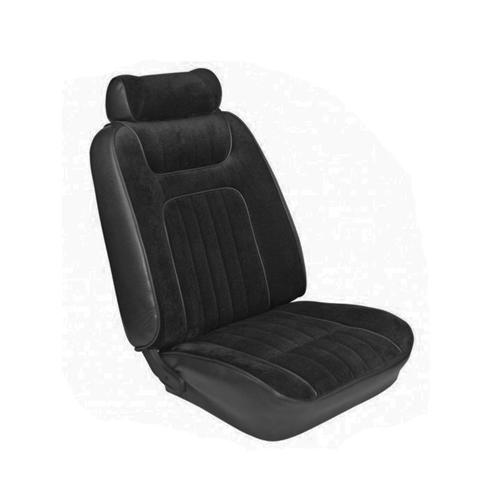 TMI Mustang Seat Upholstery Black Cloth/Vinyl (79-80) Coupe