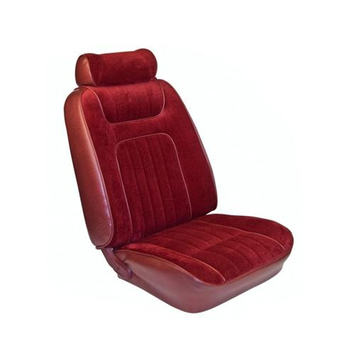 TMI Mustang Seat Upholstery Red Cloth/Vinyl (79-80) Coupe Low Back