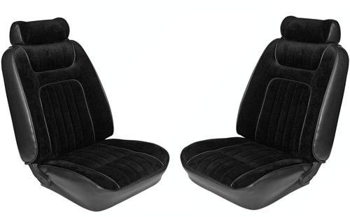 TMI Mustang Seat Upholstery Black Vinyl (79-80) Ghia Coupe