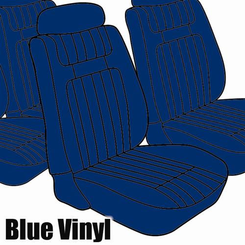 TMI Mustang Seat Upholstery Blue Vinyl (79-80) Ghia Coupe