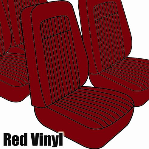 TMI Mustang Seat Upholstery Red Vinyl (79-80) Hatchback High