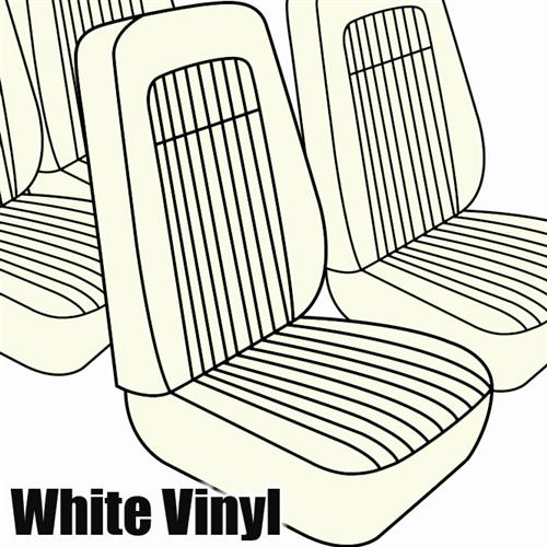 TMI Mustang Seat Upholstery White Vinyl (79-80) Hatchback High