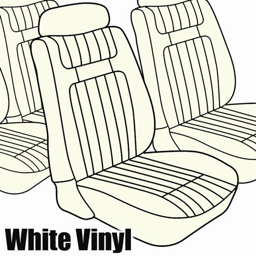 TMI Mustang Seat Upholstery White Vinyl  (79-80) Hatchback Low