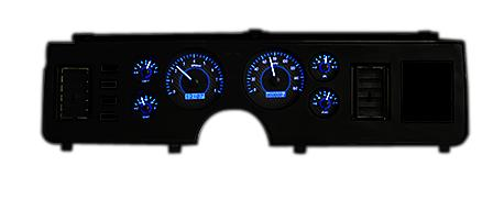 Mustang VHX Gauge Cluster Carbon Face/Blue Backlighting (79-86) - Picture of Mustang VHX Gauge Cluster Carbon Face/Blue Backlighting (79-86)