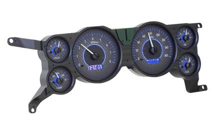 Mustang Digital Instrument Cluster Carbon Face/Blue Backlighting (79-86)