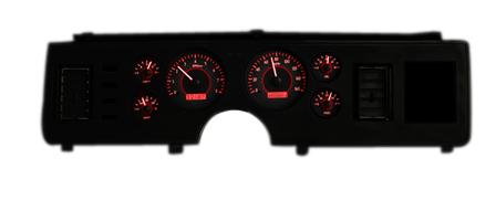 1979-86 Mustang Dakota Digital  - Picture of 1979-86 Mustang Dakota Digital Vhx Gauge Cluster. Carbon Face/Red Backlighting