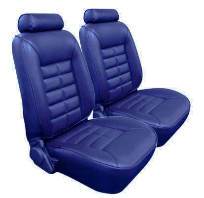 TMI Mustang Seat Upholstery Wedgewood Blue Vinyl (81-82) Coupe
